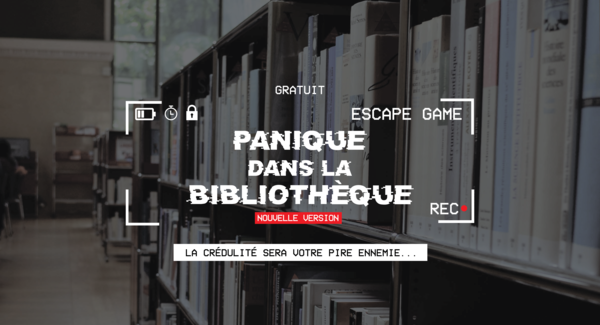 Lg bandeau escape game panique dans la bibliotheque grands groupes